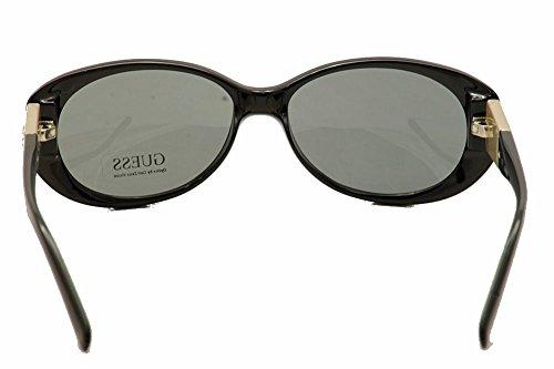 Guess lunettes de soleil ovales classiques en noir GU7261 BLKGLD 3 55 Noir