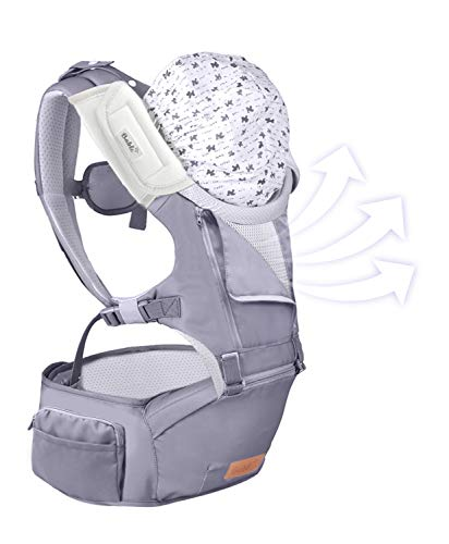 Baby Waist Stool Hip Seat Carrier gouxia74534 Baby Carrier Newborn to Toddler 3 in 1 Soft Sling Multi-Function Backpacks Stool with Shoulder Belt