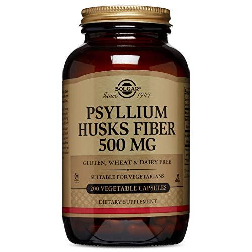Solgar – Psyllium Husks Fiber 500 mg, 200 Vegetable Capsules