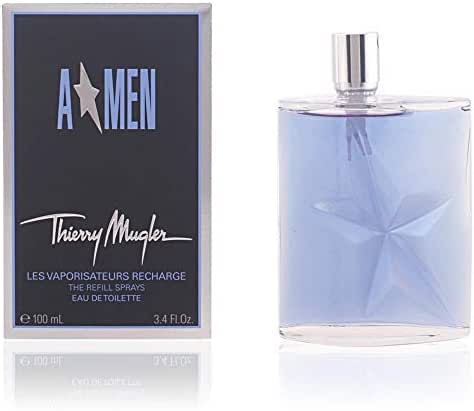 AMEN by Thierry Mugler | Eau de Toilette | Men's Fragrance | Elegant and Masculine, with Woody Notes of Patchouli, Cedar, Mint, Lavender, Coffee, and Leather | 3.4 oz Spray Refill