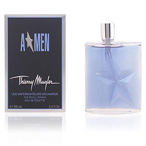AMEN by Thierry Mugler Eau de Toilette Men s Fragrance Elegant and Masculine, with Woody Notes of Patchouli, Cedar, Mint, Lavender, Coffee, and Leather 3.4 oz Spray Refill