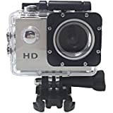 HD 1080P MJPEG 2 inch LCD IP68 30m Waterproof Sports Action Camera DVR (Silver)
