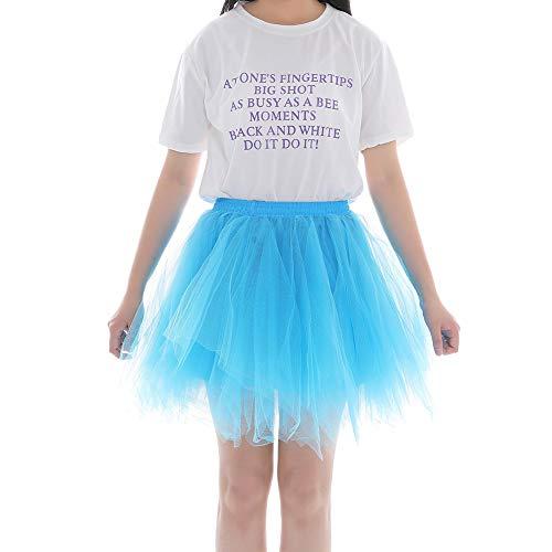 Mariage Cadeau Tulle Jupon FEOYA Femme Extensible Noel Fte Jupe Carnaval Tutu Soire 65 Jupette Pliss bleu Cooktail Ballet Taille Sky 100CM Bouffant Danse Dguisement YZtIZ