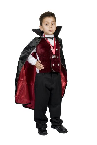 MONIKA FASHION WORLD Boys Kids Vampire Halloween Costume, Dracula​ Size M 6,7,8,9