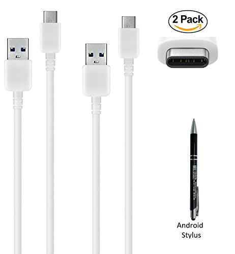 Price comparison product image 2x Pack Samsung TYPE - C USB Data Sync Charging Cable with MKK Exclusive Stylus Pen - For - Samsung Galaxy S8,S8+,Tab S3 (2017 Model)