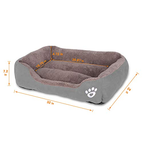 Utotol Dog Beds for Medium Dogs, Washable Pet Sofa Bed Firm PP Breathable Soft Couch for Small Puppies Cats Sleeping Orthopedic Beds
