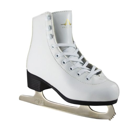 Leather Lined Girls Figure Skates - American Athletic Shoe Girl's American Leather Lined Figure Skates, White, 11