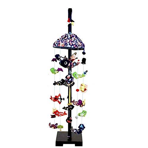 吊るし飾り【鯉いっぱい】飾り台セット [中] スタンド付き【sb5-kip-m】 B07NP96RCZ