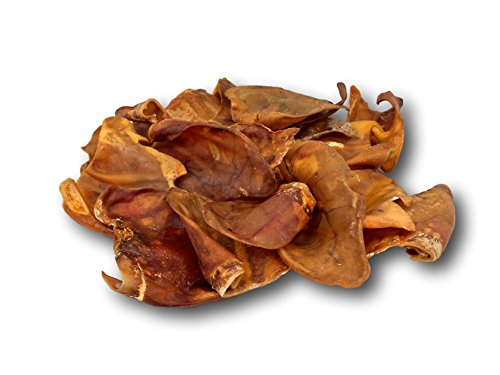 Top Dog Chews Pig Ears 10 Pack - Made in The USA - Full Large Pig Ears