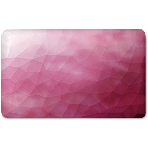 Memory Foam Bath Mat,Modern,Abstract Various Shades of Gradient Toned Pink with Fragmented Effects DesignPlush Wanderlust Bathroom Decor Mat Rug Carpet with Anti-Slip Backing,Magenta Fuchsia by iPrint
