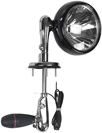 Roof Mount Spotlight RFM-7 with 10.25 inches from center of lamp to center of rubberized handle -black-12 Volts