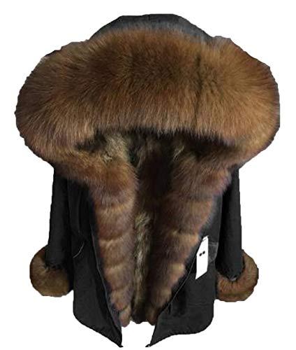Winter Luxury Coat Real Fur Parka Jacket Women Long Coat Real Detachable Big Natural Collar Hood Fox Fur collar3 7XL