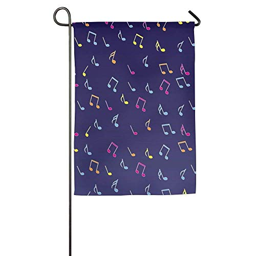 Raininc's Music Note Online 12 X 18 Garden Flags Gardens Not Faded Welcoming Flag