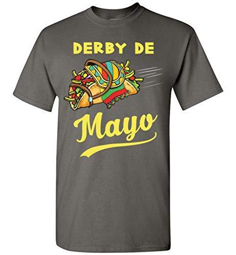 Cinco de Mayo Derby Mexian Kentucky Horse Race Tshirt Charcoal ()