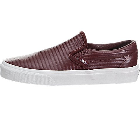 Vans Mens Authentic Low Top Lace Up Canvas Skateboarding Shoes B01N9GX4AD 5 B(M) US Madder Brown / Blance De Blanc