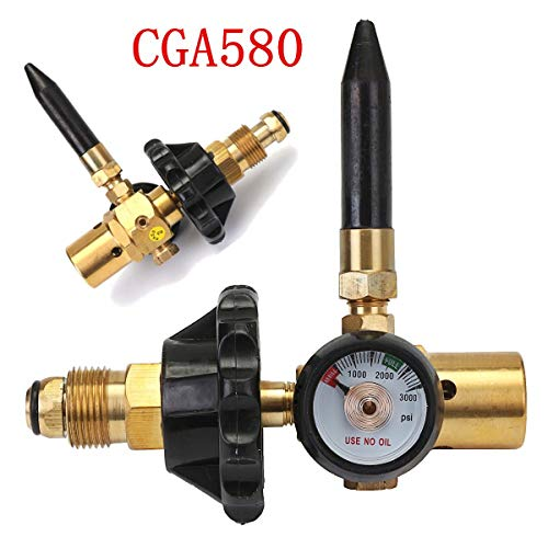 New G5/8 Thread Helium Latex Balloon Inflator Regulator With Accurate Pressure Gauge For CGA-580 Tank Valves 0-3000 PSI]()