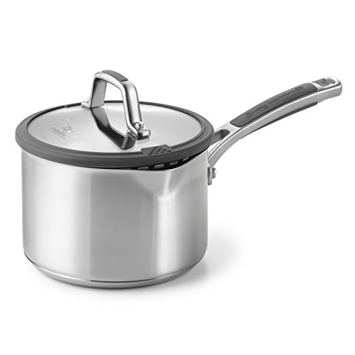 Calphalon Simply Easy System Stainless Steel Sauce Pan and Cover, 2.5-Quart by Calphalon