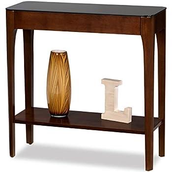 Amazon Com Modhaus Living Retro Modern Narrow Sofa Table Console Hall Stand Wooden Warm Brown