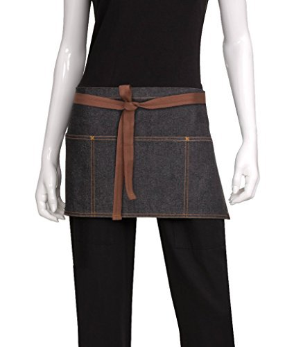 Chef Works AW054-BLK-0 Memphis Waist Apron, Black by Chef Works by Chef Works
