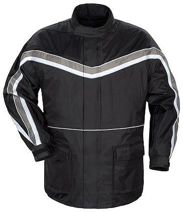 Tourmaster Elite Series II Mens Black Rainsuit Jacket - Medium