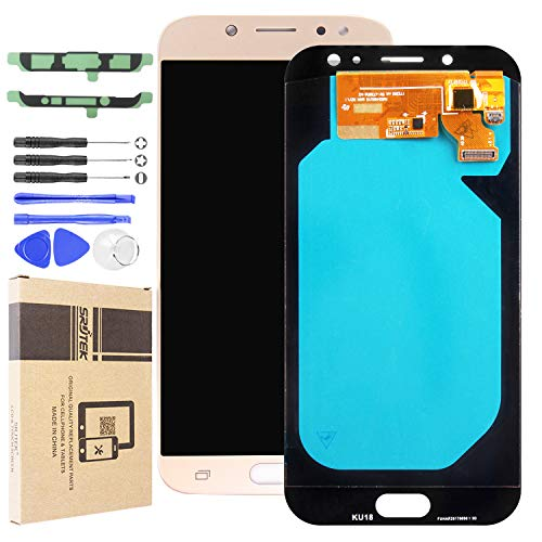 LCD Screen Replacement for Samsung J7 Pro SM-J730G/DS,Galaxy J730F J730G J730GM J730DS Super AMOLED LCD Display Screen and Touch Screen Digitizer Repair Parts Assembly(Gold)