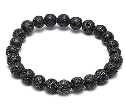 Amazon.com: Gabcus Minimalist 8mm Lava Beads Bracelet Men ...