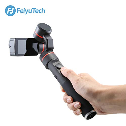 FeiyuTech Summon Plus Action Cam 4K Camera,WiFi Connection Camera with 3 Axis Handheld Gimbal Stabilizer
