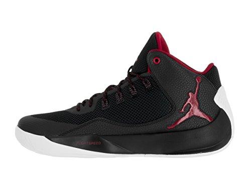 NIKE Jordan Rising High Mens Basketball Shoes Black/Gym Red-white oncXo5