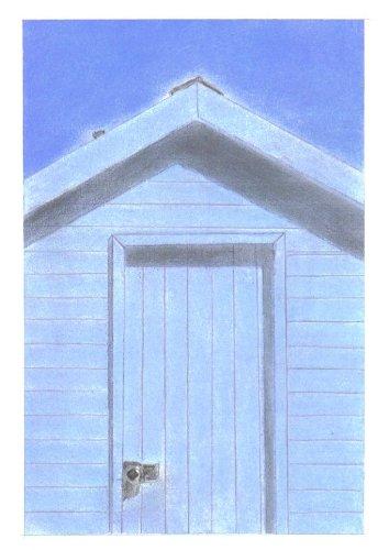 Azul de casetas de playa samfme tiza Pastel dibujo + montaje