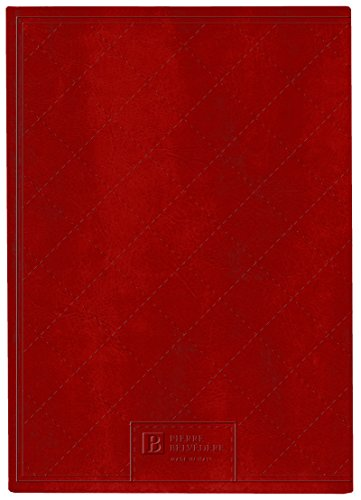 Pierre Belvedere Quilt Stitch Collection Large Hardcover Notebook with Padded Embossed Cover, Red (7706340) Photo #2