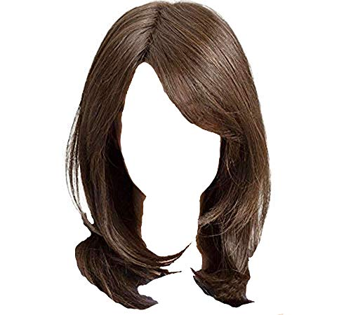 NEJLSD Wigs for Women Shoulder Length Wig Synthetic Straight Cos Wigs Heat Resistant Synthetic Hair 18 inch (Light Brown)