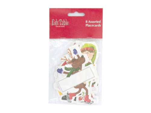 Holiday Fun kid & number 039; s place cards, pack of 8 - Case of 96