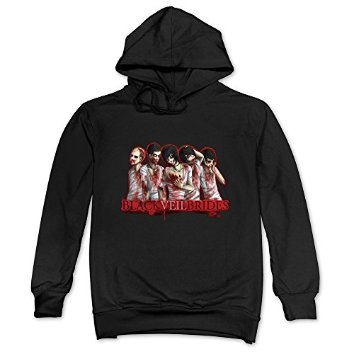 DF Mans Black Veil Brides Zombie Blood Music Hoodie Black
