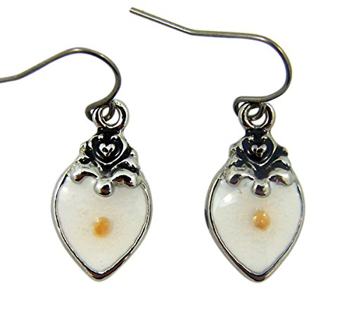 Silver Tone Fatih of a Mustard Seed Heart Pendant Earrings, 1/2 (Mustard Seed Ring)
