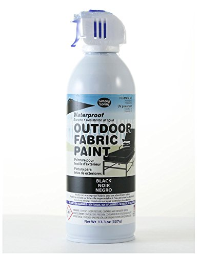 Simply Spray Outdoor Waterproof Fabric Spray Paint 13.3 Oz. Can Black (Sunbrella Waterproof Fabric)