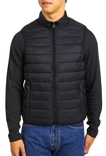 Hawke & Co Men's Reversible Down Vest, Black/Graphite, Small (Hawke Vest Co)