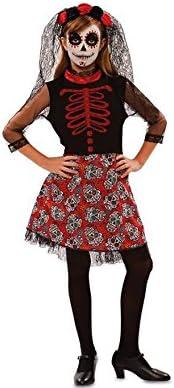 Disfraz de Catrina Roja para niña: Amazon.es: Juguetes y juegos