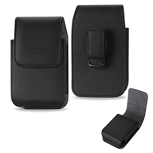 Vertical Executive Leather Case with Magnetic closure with swivel belt clip for Consumer Cellular ZTE Avid - Executive Case Vertical