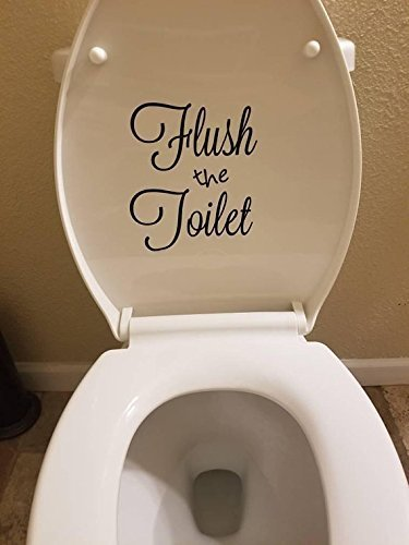 Flush the Toilet Decal, Toilet Decal, Bathroom Decor, Funny Reminder, Toilet Sign, Kids Bathroom
