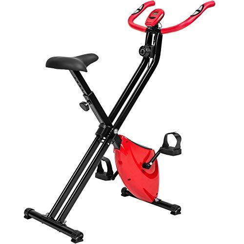 🥇 TecTake Maquina Fitness Plegable Bicicleta ESTATICA + Monitor