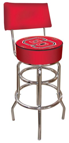 NCAA North Carolina State University Padded Swivel Bar Stool with Back (Wolfpack Stool Bar State)