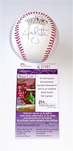 - Jon Lester Signed Baseball - 2013 World Series Coa K27491 - JSA Certified - Autographed Baseballs
