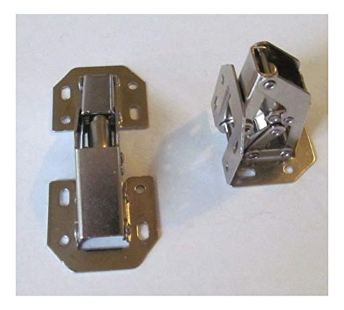 Mount Concealed Installation Surface (2 Nickel Plated Self Closing 90-Degree Surface Mount Spring Cabinet Door Hinge)