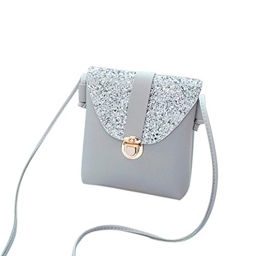 WILLTOO Women Messenger Shoulder Bags, PU Lock Sequins Crossbody Handbags (Party City Halloween Clearance Sale)