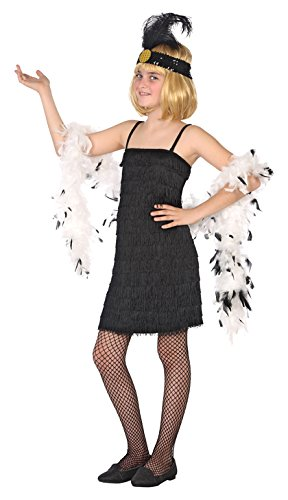 Atosa-39906 Disfraz Charleston, Color Negro, 7 a 9 años (39906 ...