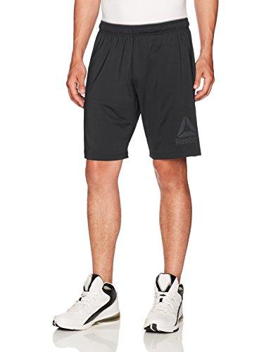 Reebok Men's Stretch Knit Shorts, Black, Large