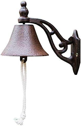 アンティーク 調 ドアベル コートヤード・ベルズハンドベルドアベル風チャイムレトロ鋳鉄装飾 エントリードアベル (色 : Brass, Size : One size)