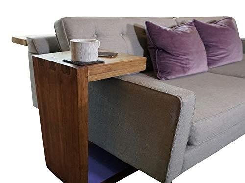 Planes de mesa auxiliar en forma de C DIY sofa sobre el brazo soporte mesa revistero estante