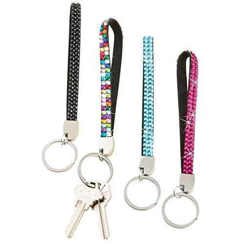 Jeweled Wristlet Keychains - Set of 4