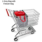Reusable Grocery Shopping Bags by The Barista House with Insulated Produce Bag - Eco Friendly - Hooks to Secure On Your Shopping Trolley, Easy Hook on and Off (2)